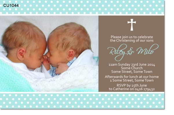 www invitations2impress com cu1044 twin boys christening