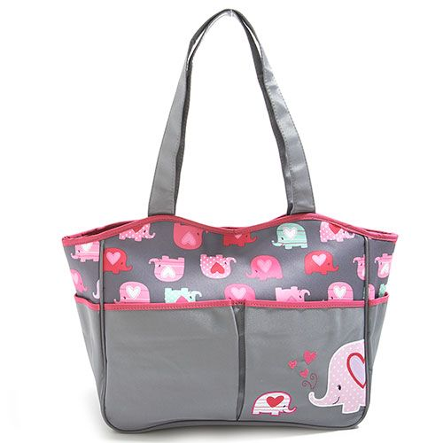 baby girl cudlie elephant tote diaper bag found at boscov 39 s diaperbagblog pinterest tote. Black Bedroom Furniture Sets. Home Design Ideas