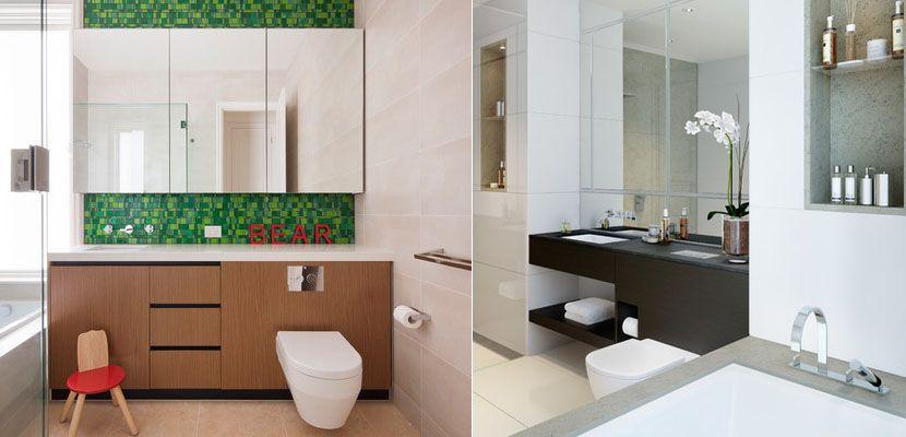 combos para decorar cuartos de bao pequeos httpwwwdecoora - Como Decorar Un Cuarto De Bao