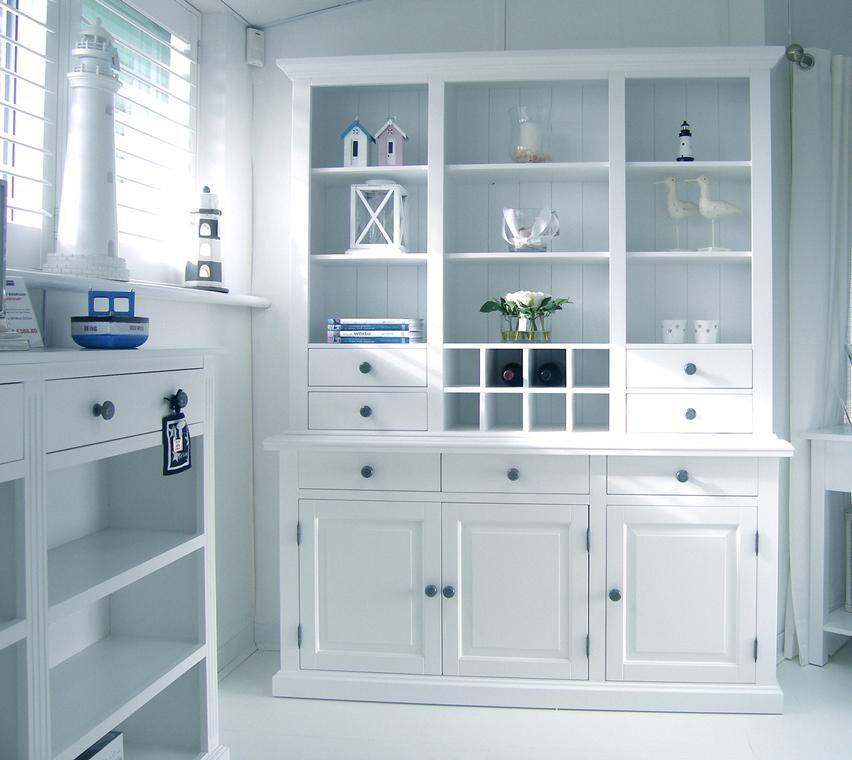 New England Medium White Dresser