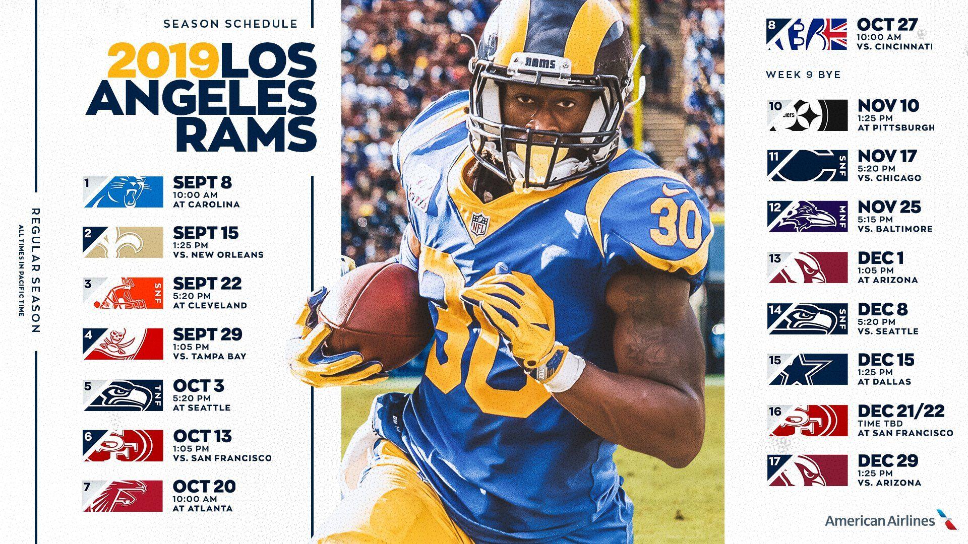 Los Angeles Rams Football Games 2019 Rams Football Los Angeles Rams Football Games