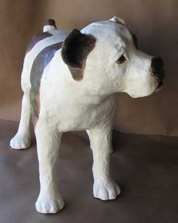 Bulldog Sculpture is Finished | Ultimate Paper Mache