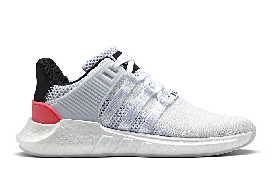 The adidas EQT Boost 93/17 White Turbo Red will release on March 23rd featuring an updated Boost midsole and Primeknit woven upper. Details here: