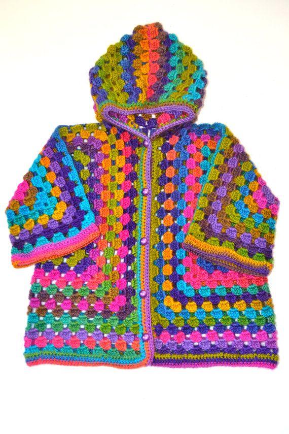 EL % 20 de descuento afgano Crochet niña lana por NeslisHandcrafts ...