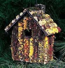 Indian corn birdhouse !  love it !