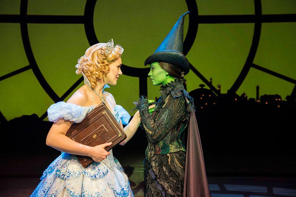 Savannah Stevenson (Glinda) and Emma Hatton (Elphaba). Photo by Matt Crockett.