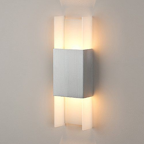 Perfect Size And Diffused Lighting For Recovery Ansa Led Wall Sconce Fixture Width 5 Height 15 Depth 2 38 Note The Shallow
