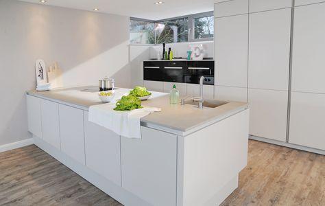 Beton Arbeitsplatte Küche weisse kueche matt beton arbeitsplatte einschubtueren jpg 3 832 2