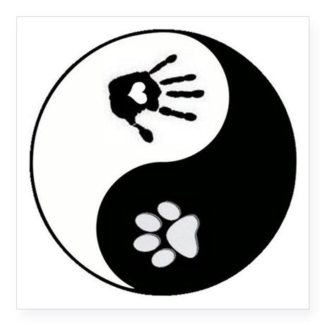 dog paw print handprint yin yang square stic dog paws yin yang rh pinterest com Yin Yang Cat Black Yin and Yang Shape Dog Cat Line Art