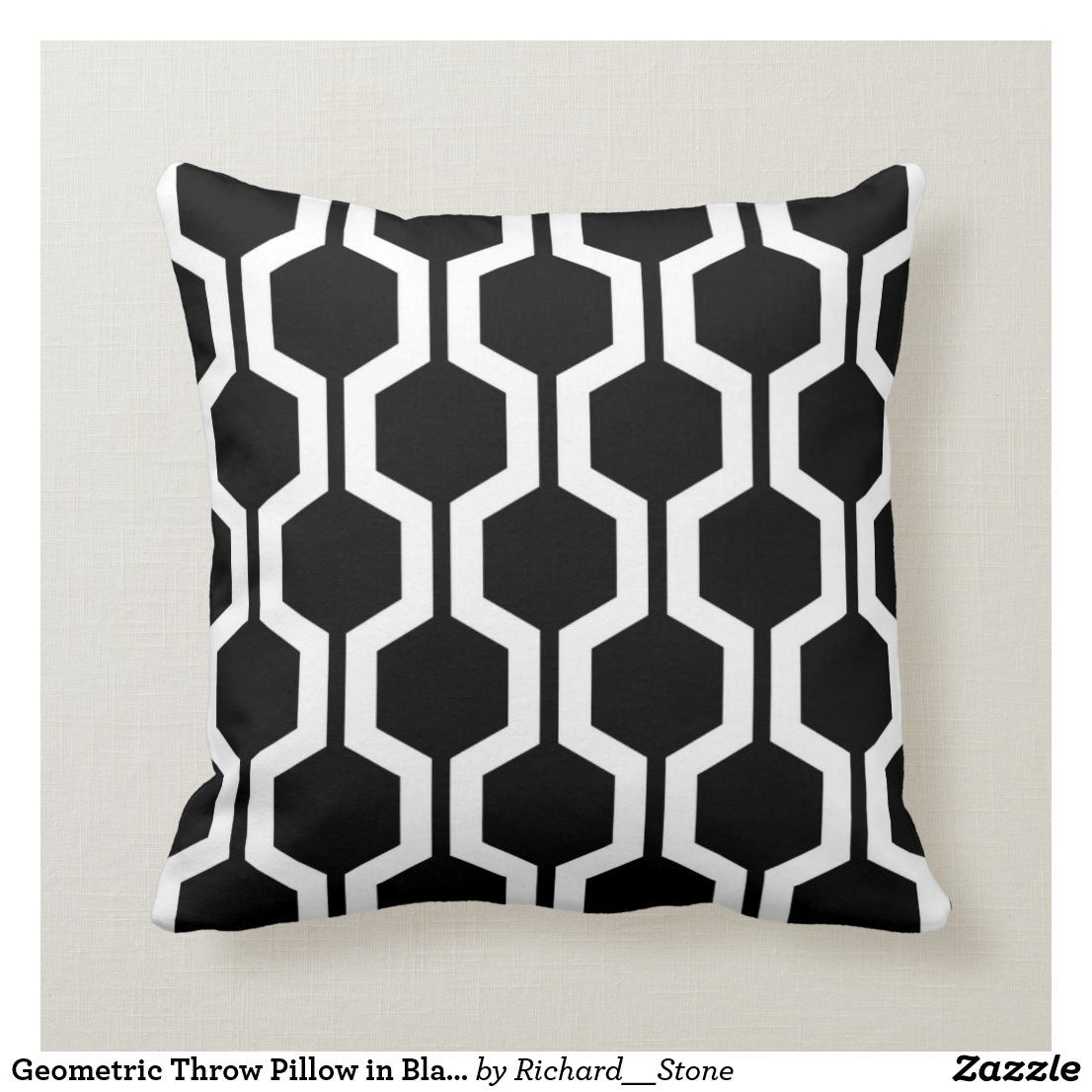 Geometric Throw Pillow In Black And White Zazzle Com Geometric Throw Pillows Black And White Cushions Pillows