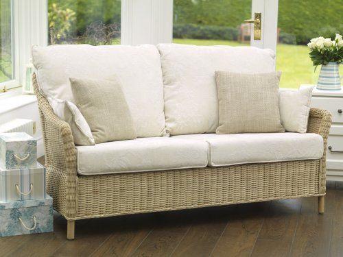 Laura Ashley Rattan Furniture Collection - Blenheim Sofa - Laura Ashley Rattan Furniture Collection - Blenheim Sofa Coastal