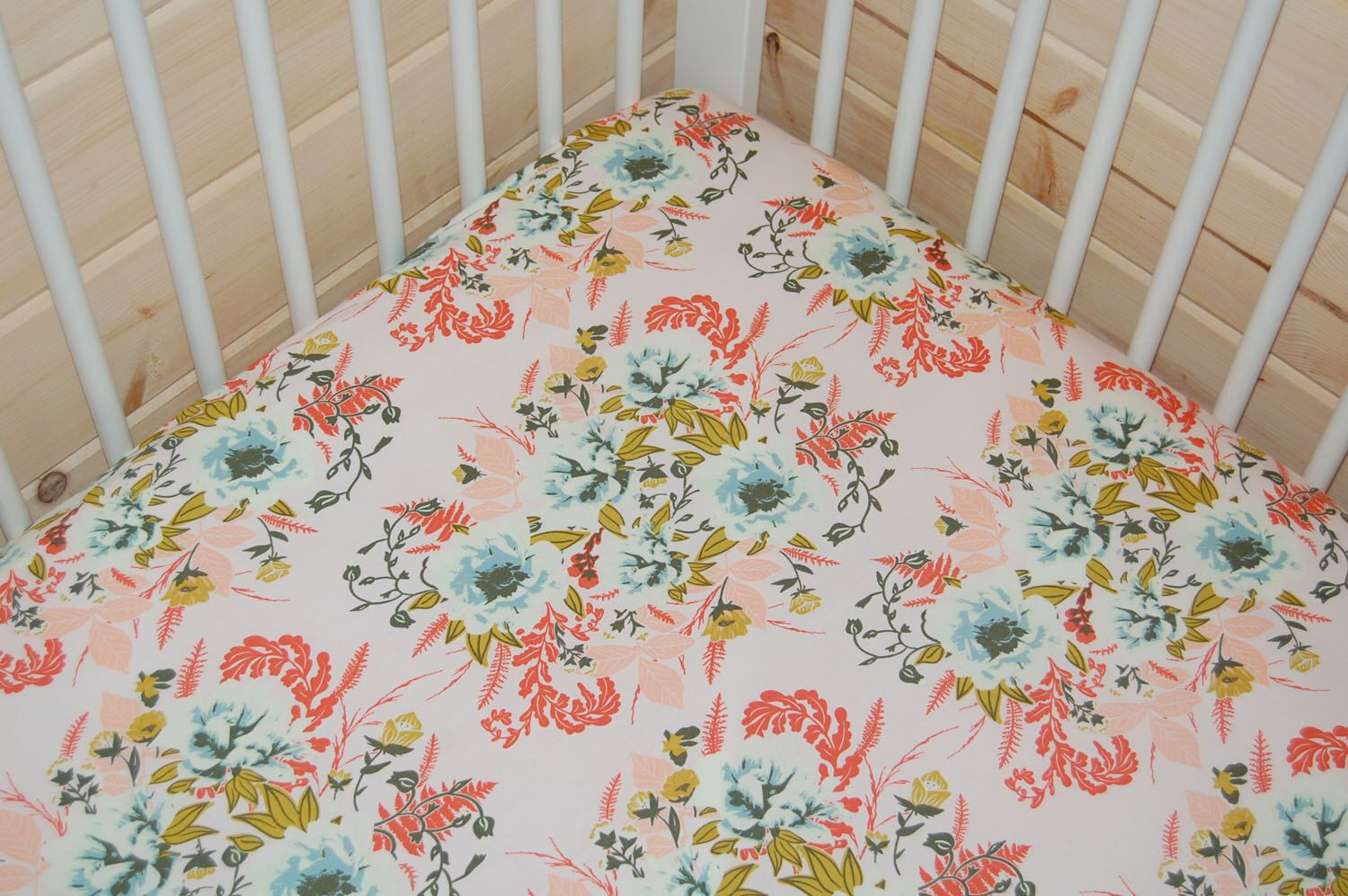 3600 Baby Girl Bedding Floral Crib Sheet Pink Baby Bedding