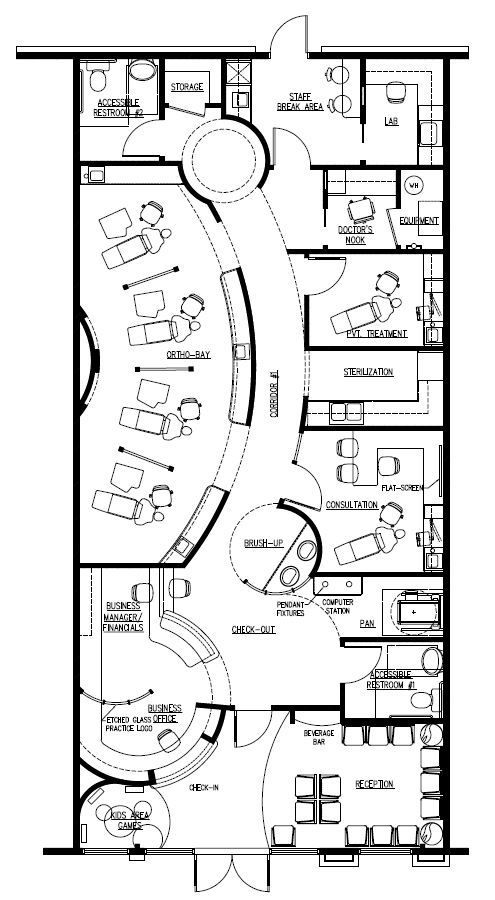 Just A General Floor Plan Not Specifically What S Stated On This Drawing Http Www Ext Office Floor Plan Orthodontic Office Design Medical Office Design