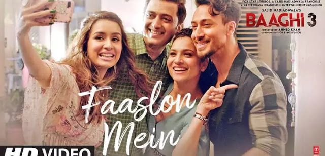 Faaslon Mein Lyrics Baaghi 3 In 2020 Hindi Movie Song Latest