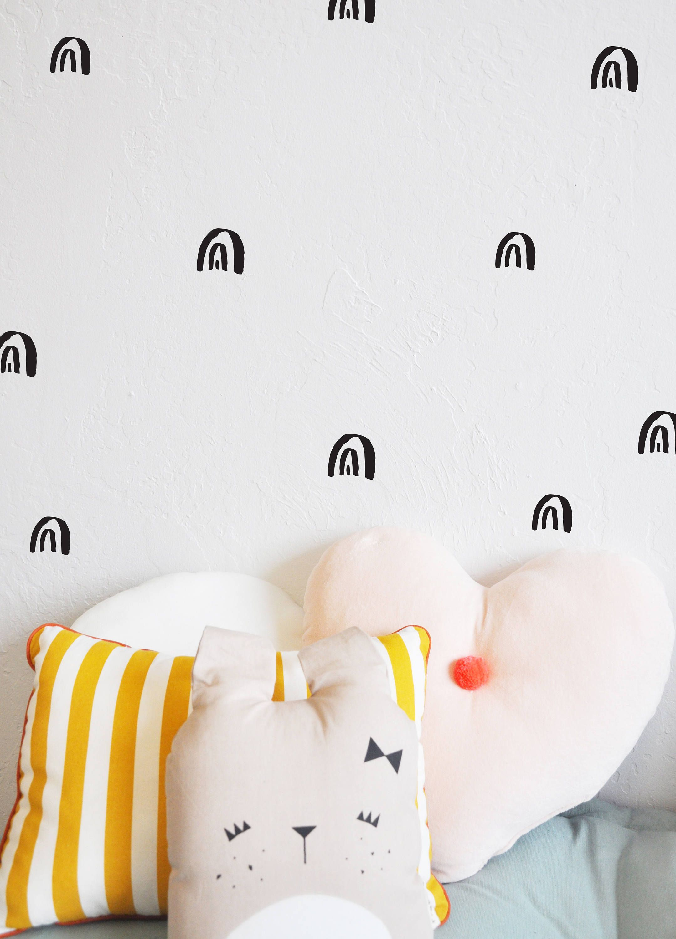 Wall Decal Painted Rainbows Wall Sticker Room Decor