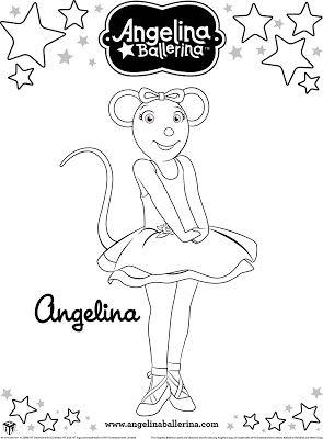 Fazendo A Nossa Festa Colorir Angelina Bailarina Imagens Para