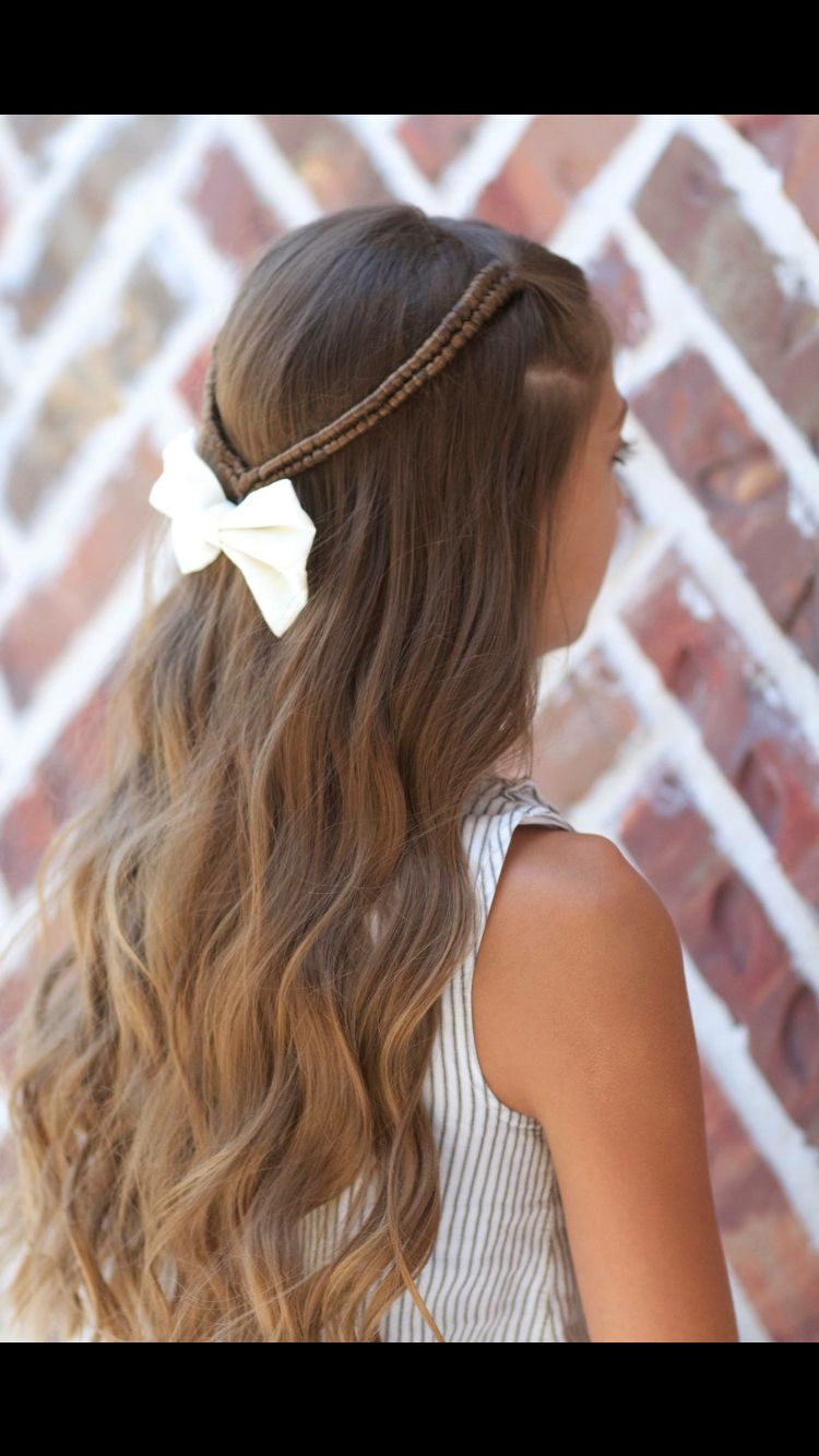 Pretty hairstyle for young girls hair pinterest hair style