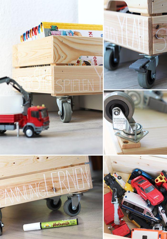 Do It Yourself Spielzeugkiste Mit Rollen Selbst Bauen Ikea