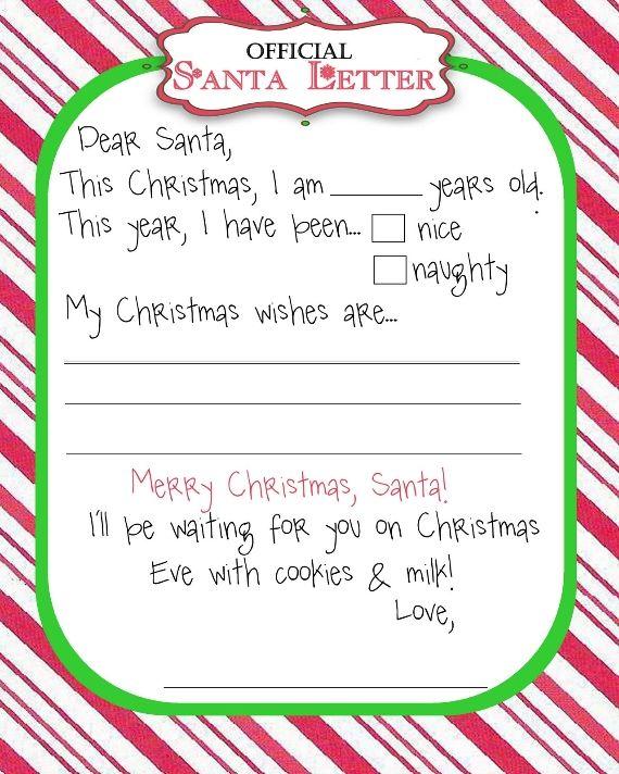 Santa Letter   Pinteres