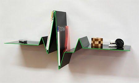 Distorted Bookshelf Flybrary Infinity Shelf System FlexiTube Shelving LIEUL Branch Wind Storyline Boo