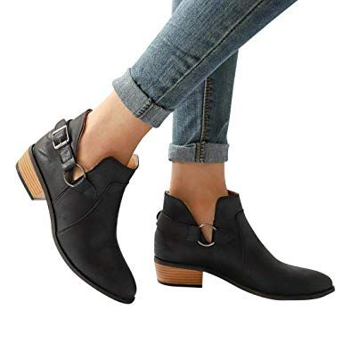ae4c6b4abd35 Classic ankle boots for women Amazon.com  Gyoume Ankle Boots Women Boots  Pointed Toe Black Boots