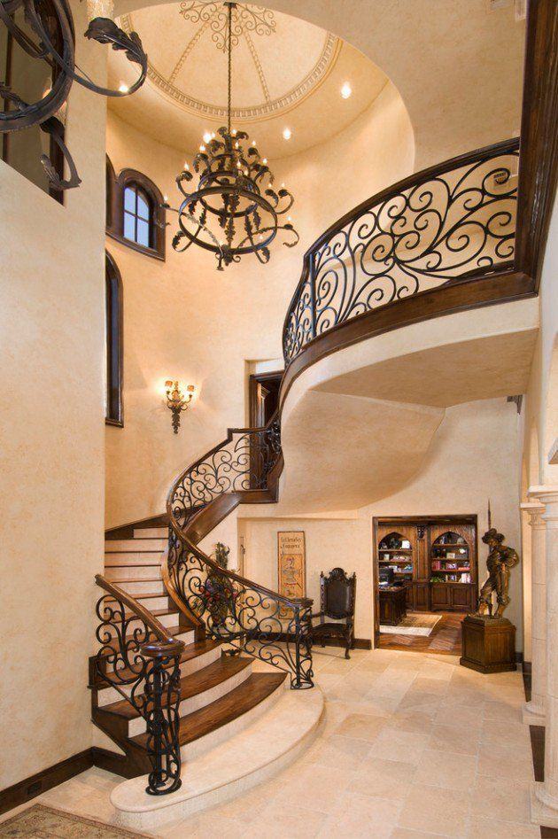 18 palatial mediterranean staircase designs that redefine for Luxury staircase