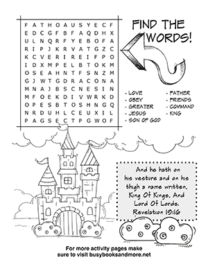 Bible Activity Pages For Kids Fun Bible Activities
