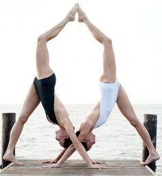 crissy  kimmy  partner yoga poses acro yoga poses yoga