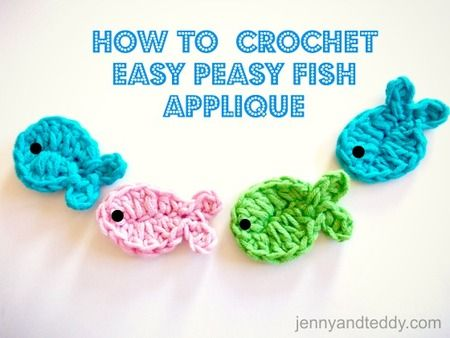 Crochet Fish Applique (Free Crochet Pattern)