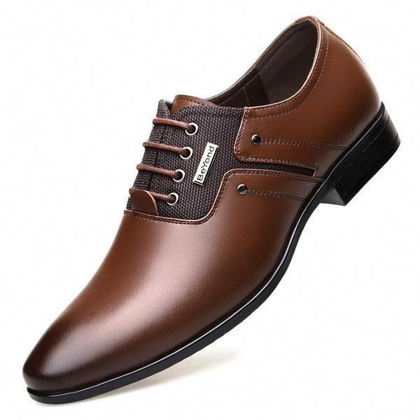 Misalwa Spring Autumn Men Formal Wedding Shoes Luxury Men