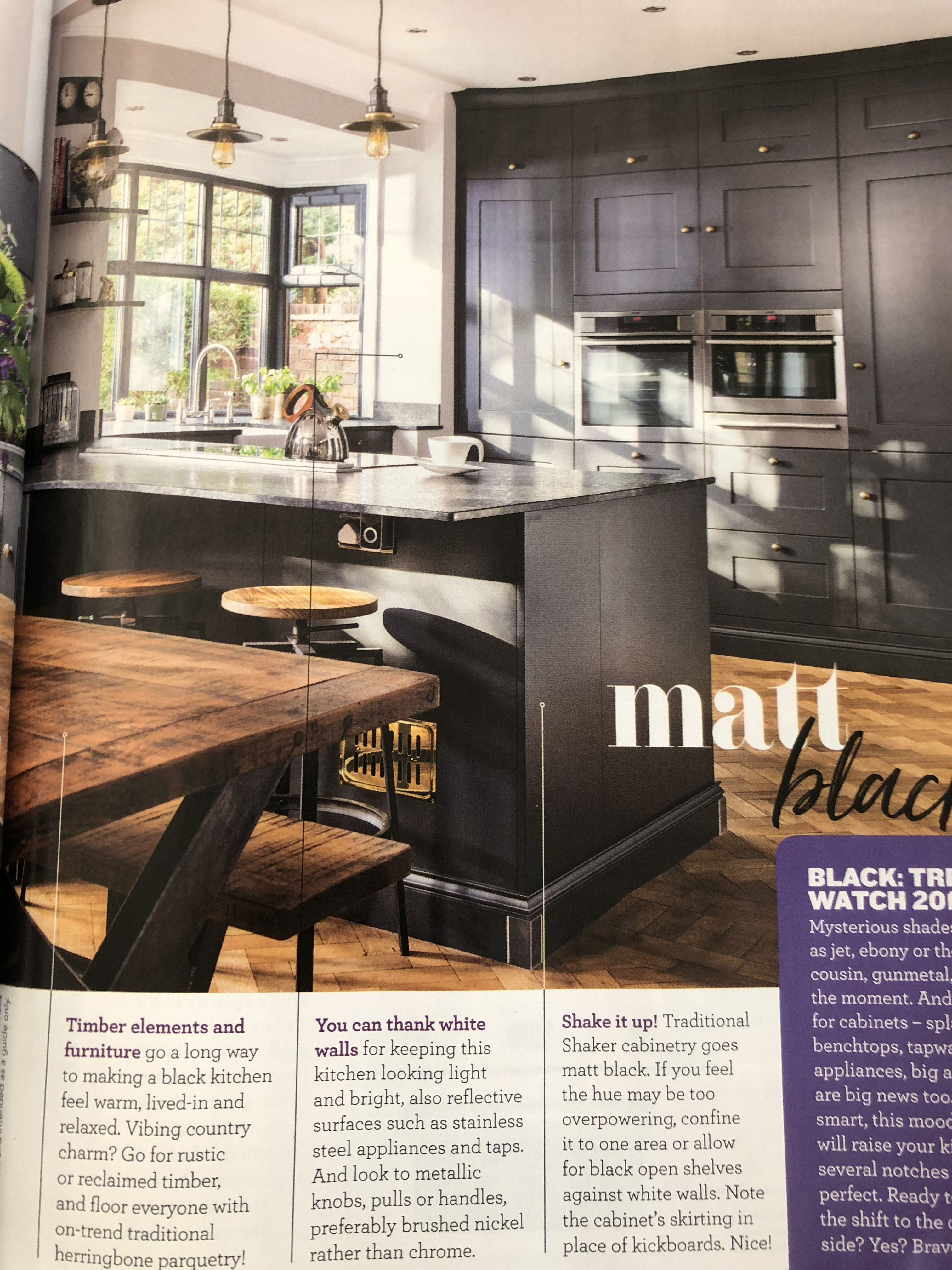 Like bay window, kitchen stools, wall mounted ovens Wall