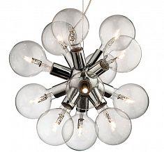 Stilfull Design Takpendel 12x Ljuskällor / Glas, Krom