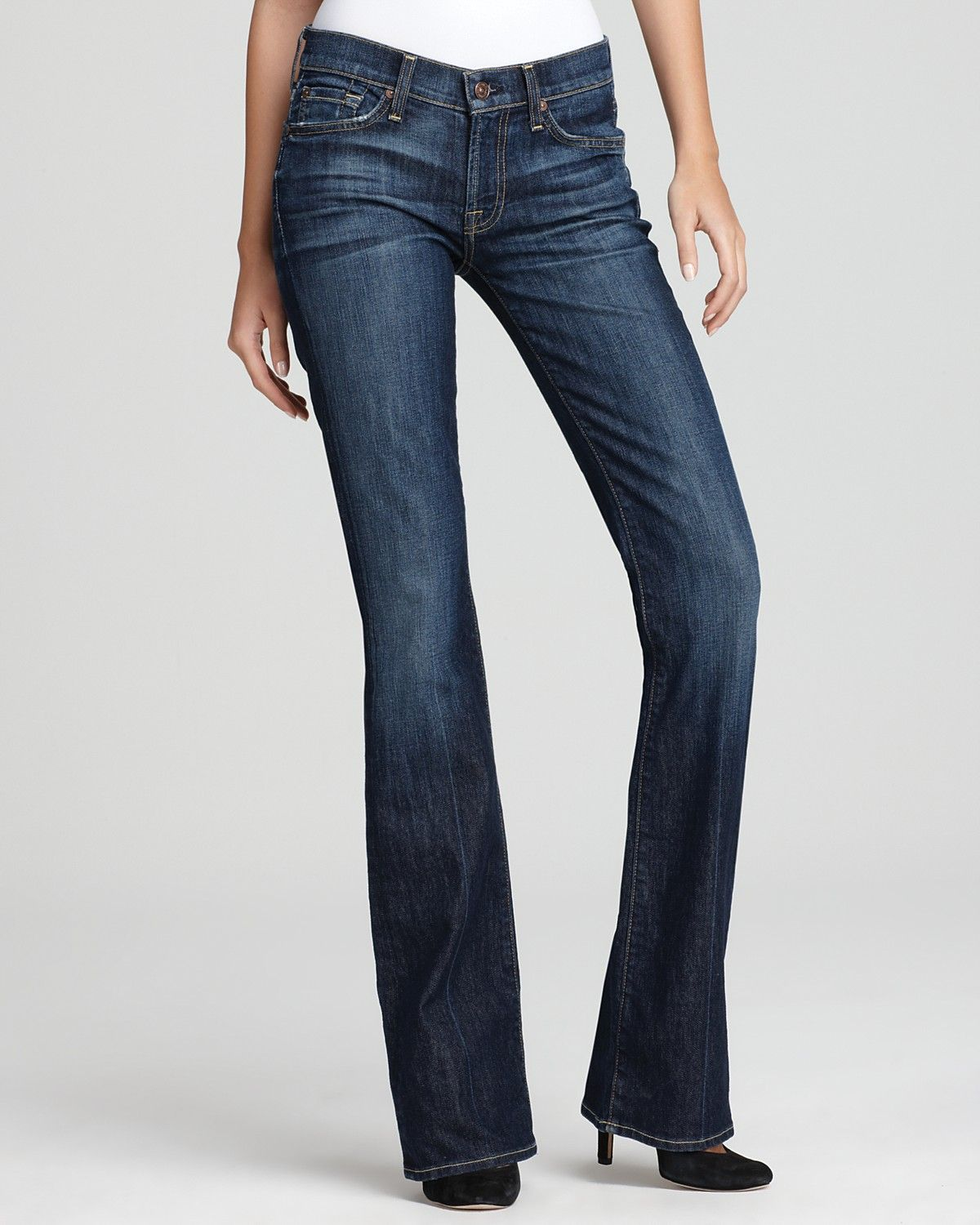 07ecc55150e 7 For All Mankind Jeans - Bootcut Jeans in Nouveau New York Dark |  Bloomingdale's