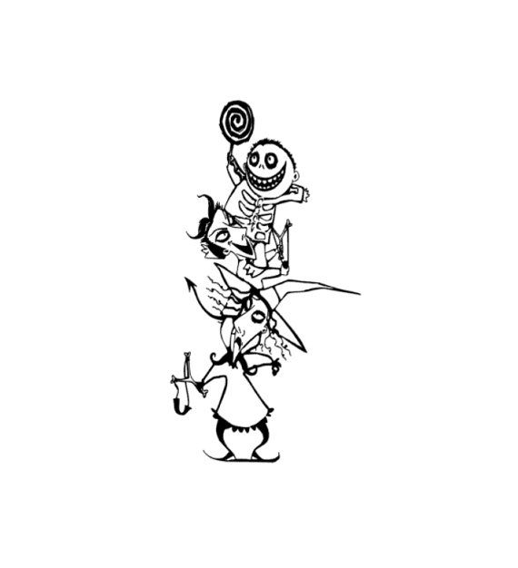 Httpinzqthe nightmare before christmas free coloring pages for Lock shock and barrel coloring pages