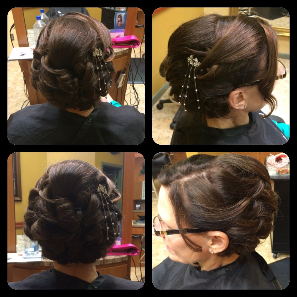 Up-Do with extensions done by Melissa, Salon Azano