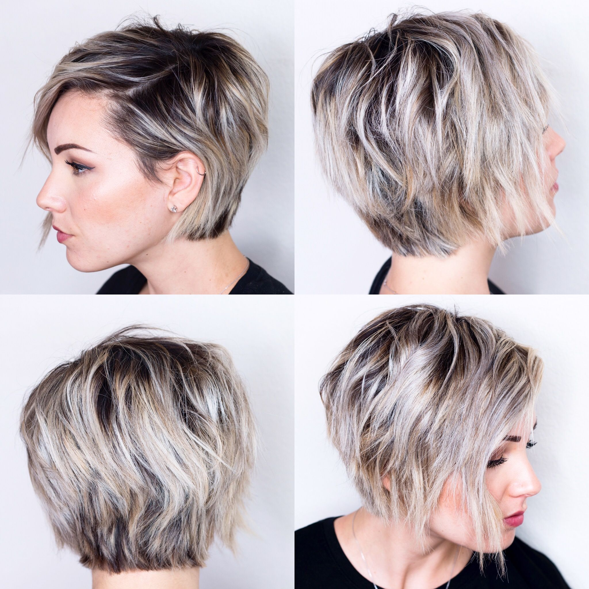 360 View Of Short Hair Growing Out Short Hair Styles Oval Face Haircuts Oval Face Hairstyles