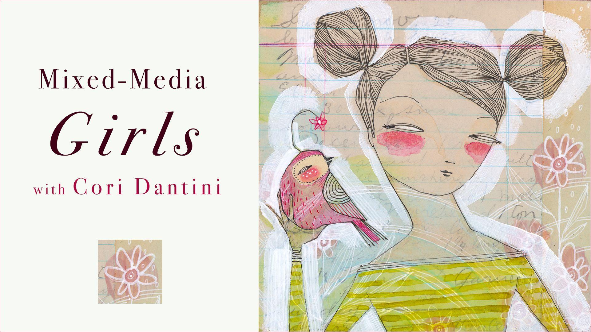 Mixed Media Girls With Cori Dantini Carla Sonheim Presents Mixed Media Art Journaling Mixed Media Artist Trading Cards