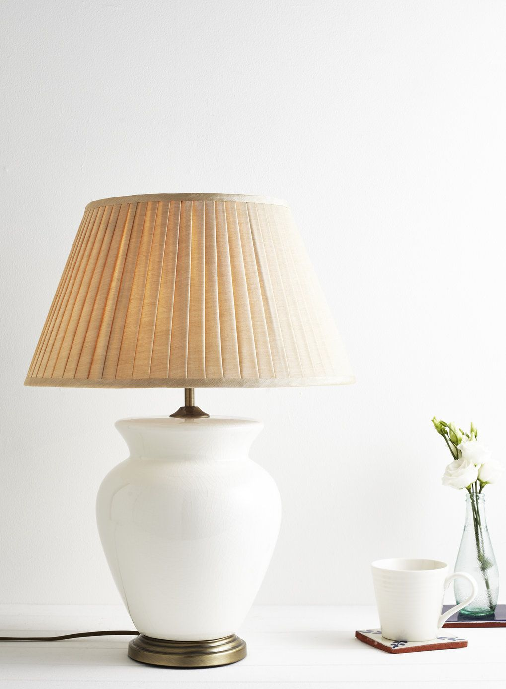 Cream Large Harris Table Lamp - Table Lamps - Home, Lighting ...