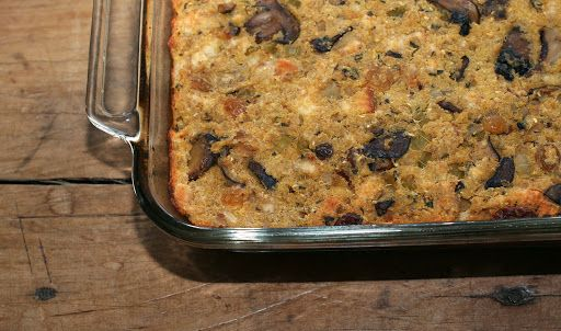 Wild Mushroom Sage Cornbread Dressing Recipe On Yummly Dressing Recipes Cornbread Cornbread Dressing Best Cornbread Stuffing Recipe