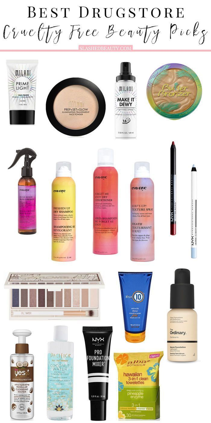17 Best Drugstore Cruelty Free Beauty Picks Slashed