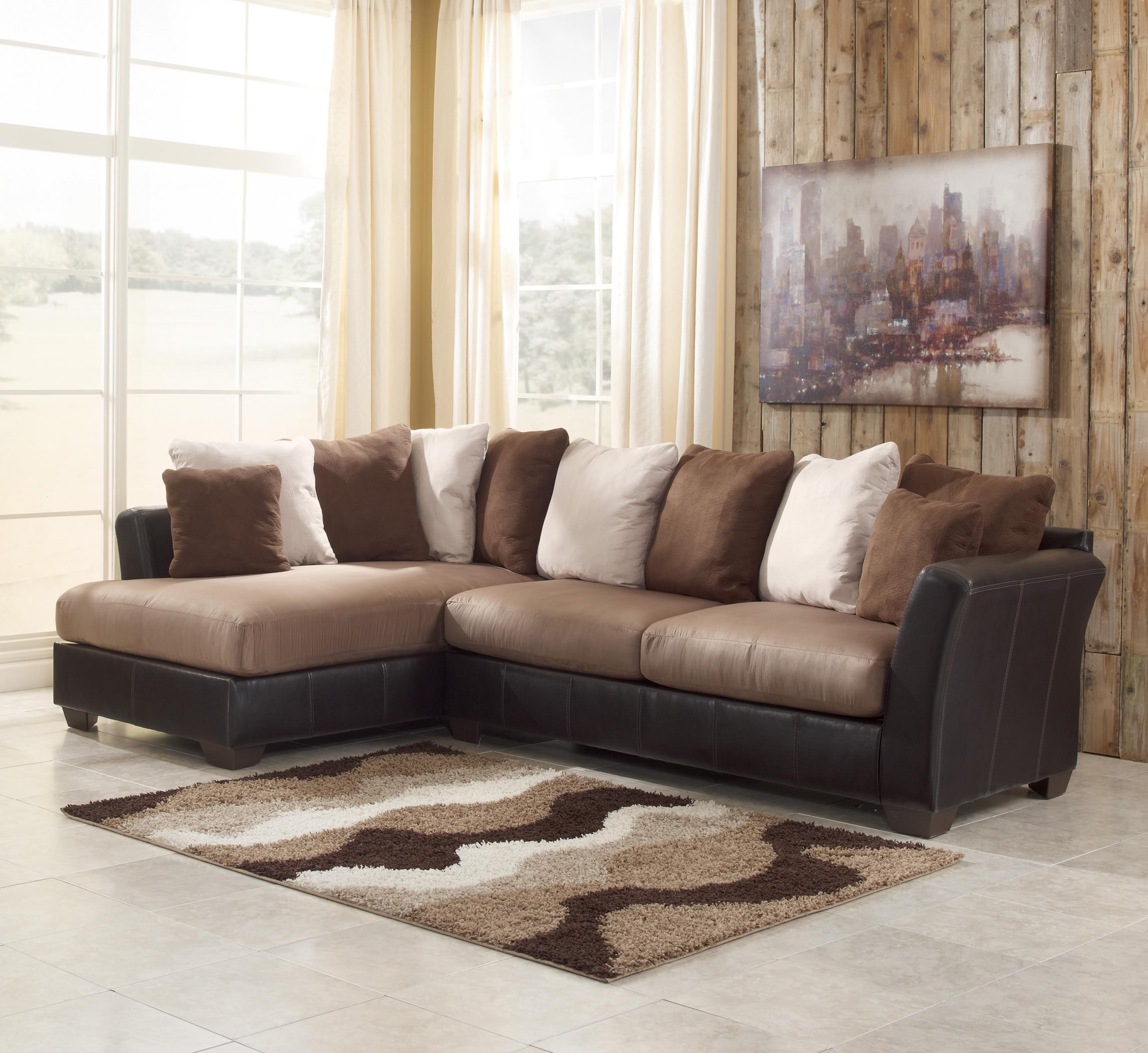 Ashley Furniture Calgary: Masoli - Mocha 2-Piece Sectional With Chaise By Benchcraft