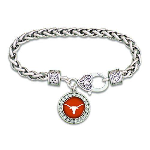 Texas Longhorns Clasp Bracelet with Round Team Logo and E