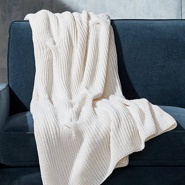 Warm White Cable Knit Throw Reviews Crate And Barrel Knitted Throws Cable Knit Throw White Throw Blanket