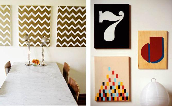 Easy, Inexpensive DIY Wall Art Ideas