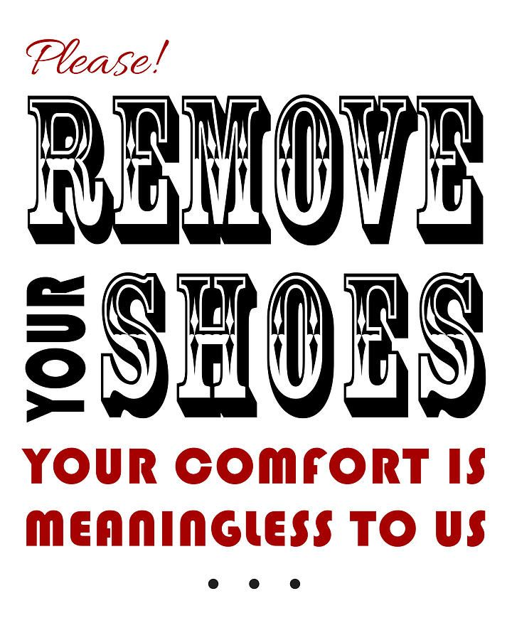 photograph about No Shoes Sign Printable called You should Take out Your Footwear Indicator Printable Printables Signs or symptoms