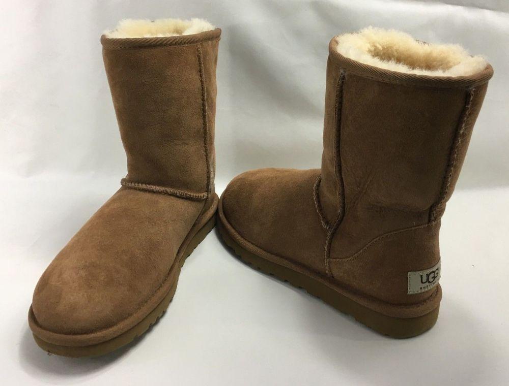 4347413a5c9 UGG Women's Classic Short Sheepskin Mid-Calf Boots 5825 in Chestnut ...