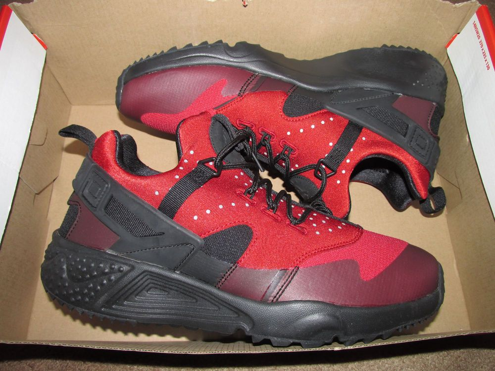 new style 9891a a0853 ... coupon code for nike air huarache utility mens trail running shoes 9.5 gym  red black 806807