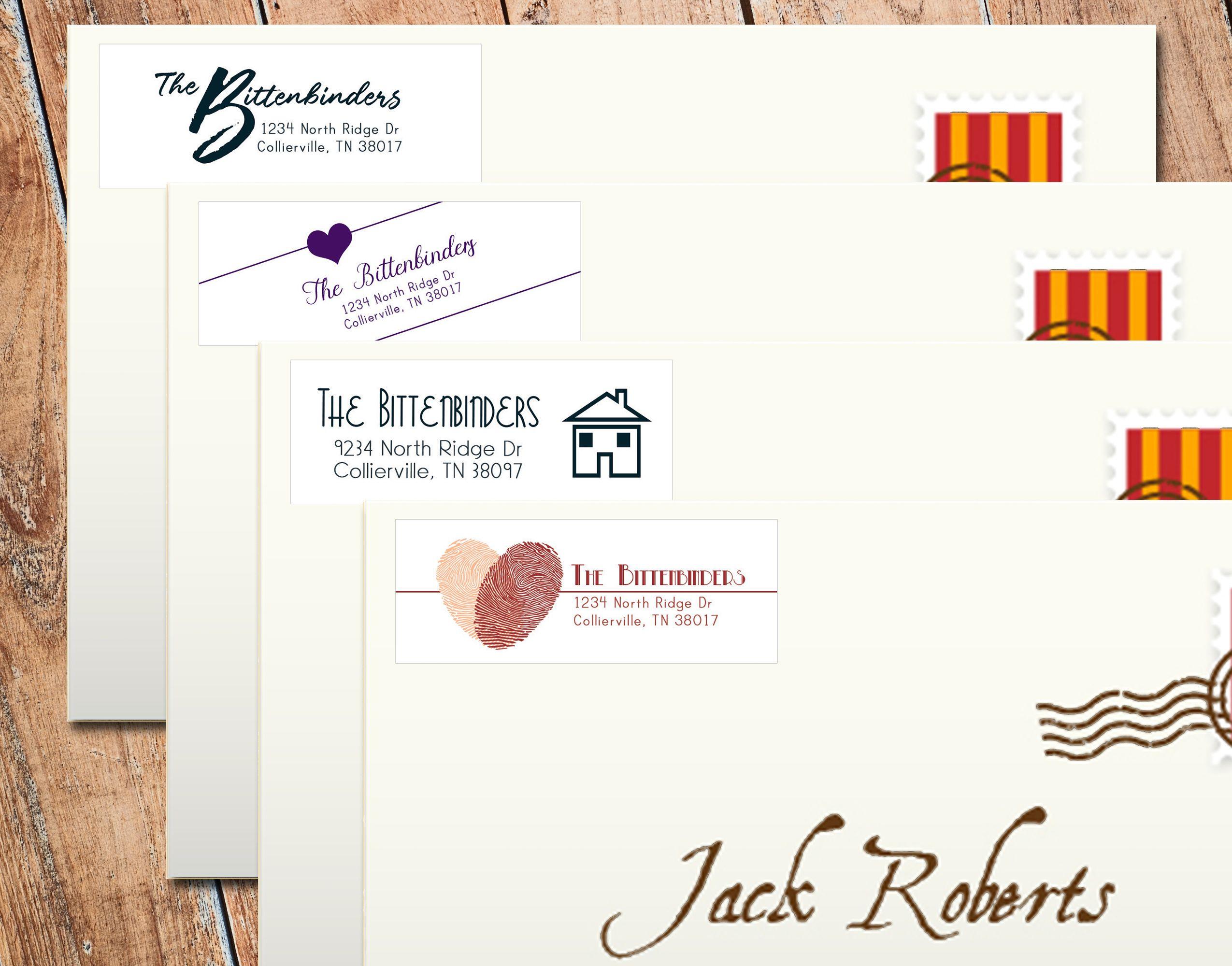 Where To Put Return Address On Letter.Family Return Address Label These Labels Give Any Letter Or