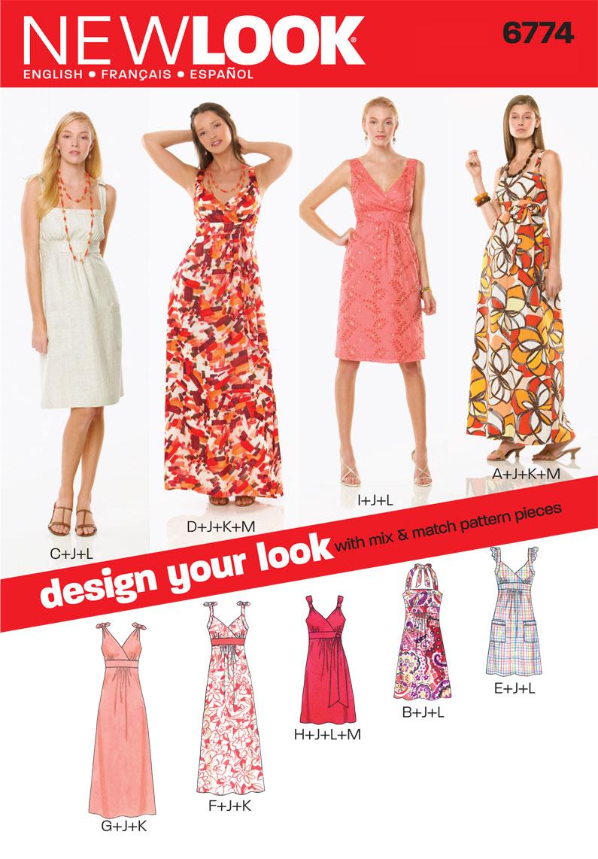 New look pattern nl6774 misses dress jaycotts sewing new look pattern nl6774 misses dress jaycotts sewing supplies jeuxipadfo Choice Image