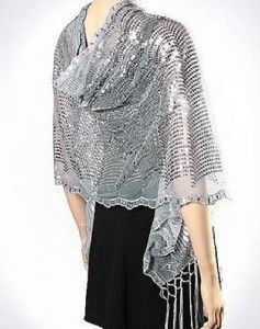 f7029f9a90af0 GOLD WAVE SEQUIN Formal Evening Party Shawl Wrap Scarf | Wearable ...